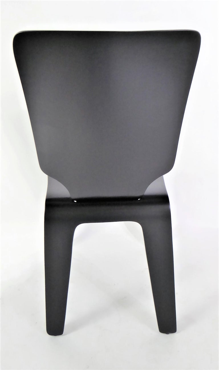 Bentwood 1947 Mid Century Black Lacquered Thaden-Jordan Side Chair For Sale