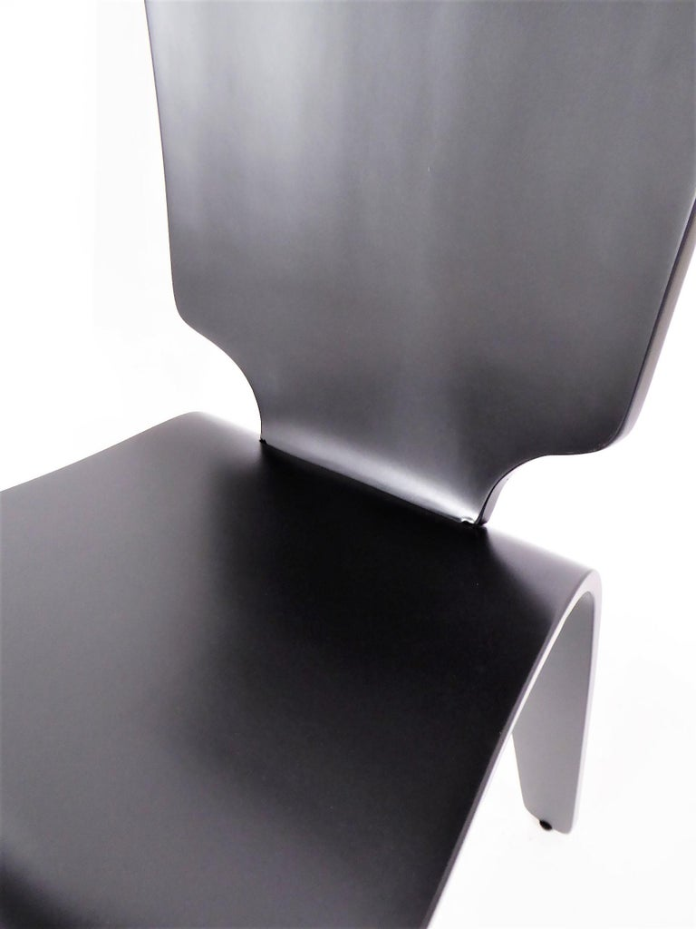 1947 Mid Century Black Lacquered Thaden-Jordan Side Chair For Sale 1