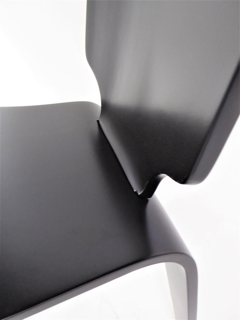 1947 Mid Century Black Lacquered Thaden-Jordan Side Chair For Sale 2