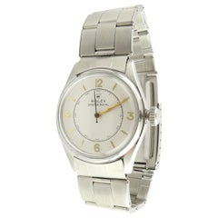 1947 Rolex Oyster Royal 4444 Stainless Steel Men's Watch Hand-Winding