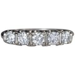 1948 1 Carat 5-Stone Diamond Platinum Band Ring