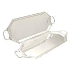 1948 Pair of Sterling Silver Trays