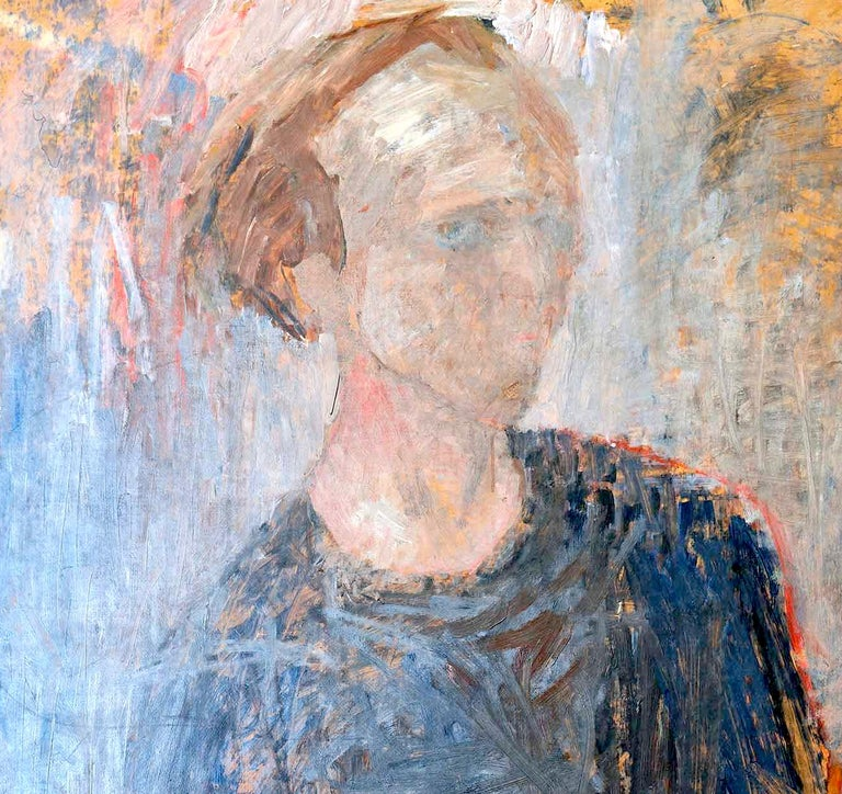 Scandinavian Modern 1949 Self-Portrait by Stig Lindberg For Sale