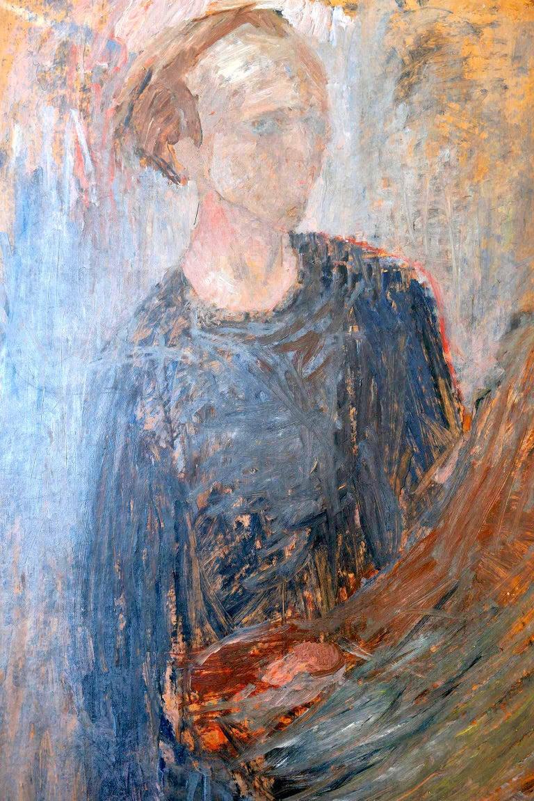 Swedish 1949 Self-Portrait by Stig Lindberg For Sale