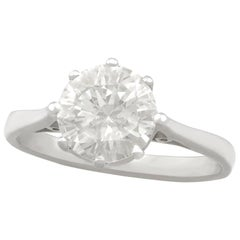1.95 Carat Diamond and Platinum Solitaire Ring