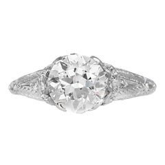 1.95 Carat Old European Cut Diamond Ring
