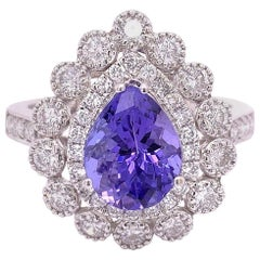 1.95 Carat Tanzanite Diamond Cocktail Ring