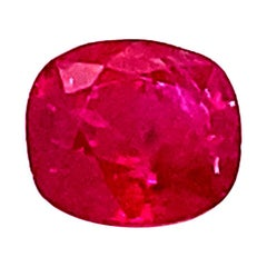 1.53 Carat GIA Certified Unheated Cushion-Cut Burmese Ruby
