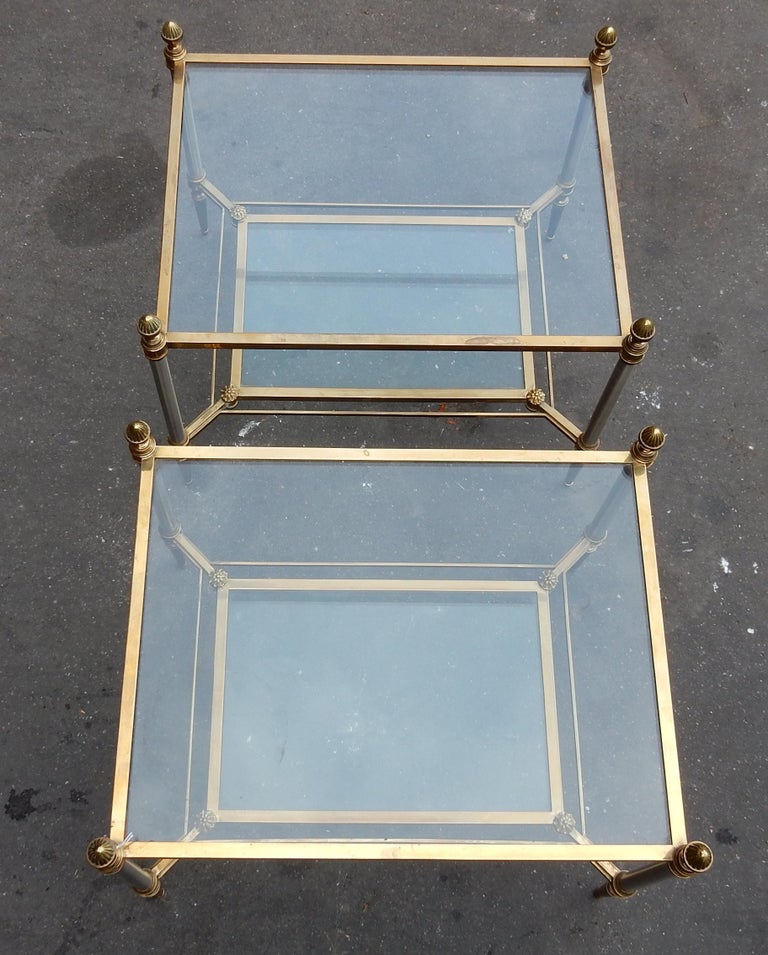 Neoclassical 1950-1970 Pair of Coffee Tables Maison Jansen For Sale
