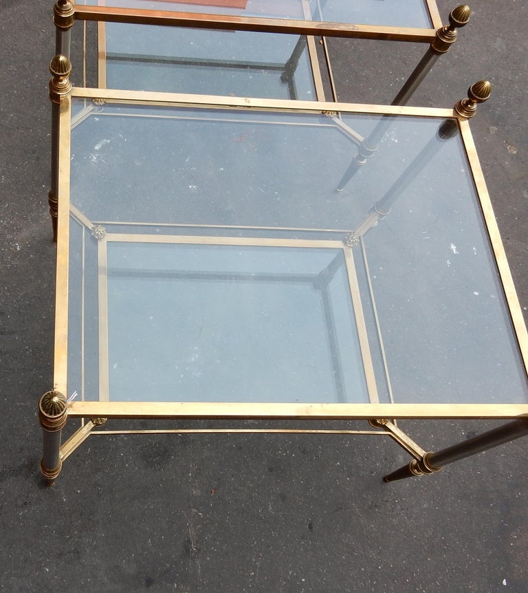 French 1950-1970 Pair of Coffee Tables Maison Jansen For Sale