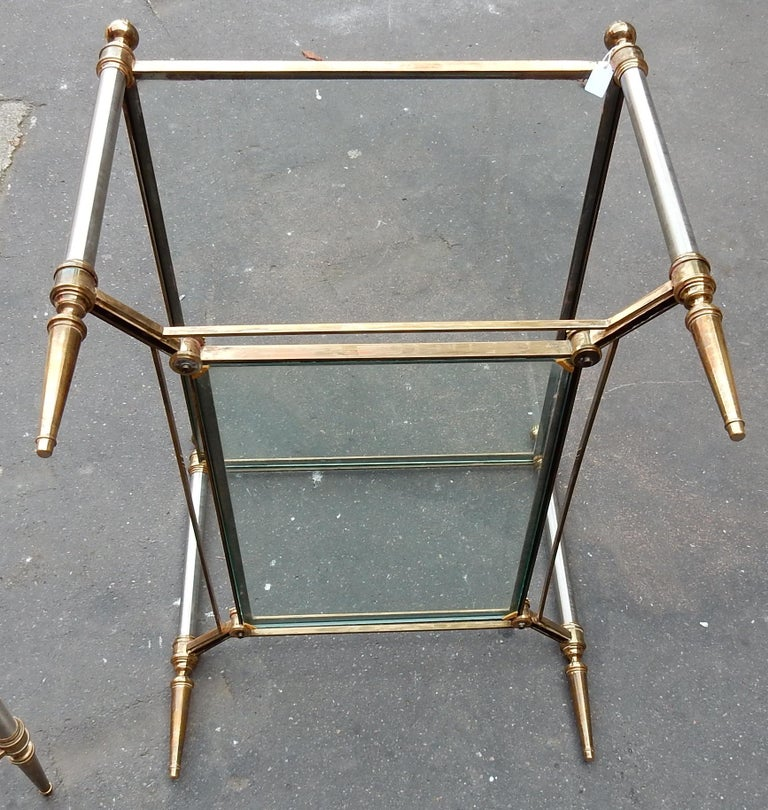 1950-1970 Pair of Coffee Tables Maison Jansen In Good Condition For Sale In Paris, FR