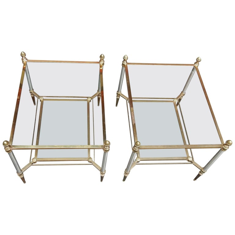 1950-1970 Pair of Coffee Tables Maison Jansen For Sale