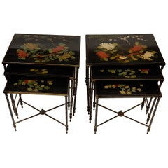 1950-1970 Pair of Series of 3 Nesting Tables