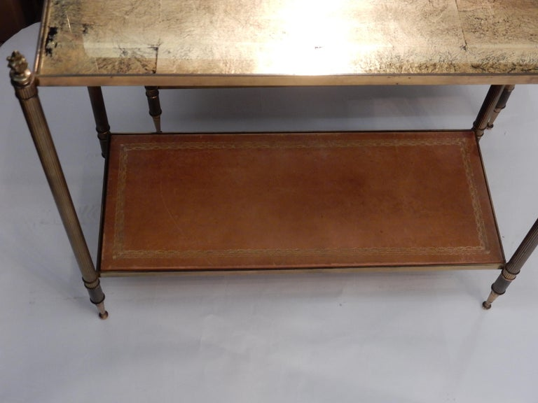 French 1950-1970 Pair of Ends of Sofa in the Style of Maison Bagués Gilted Bronze For Sale
