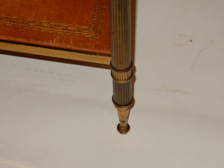 1950-1970 Pair of Ends of Sofa in the Style of Maison Bagués Gilted Bronze For Sale 3