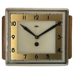1950 Art Deco Wooden Clock Prim, Czechoslovakia