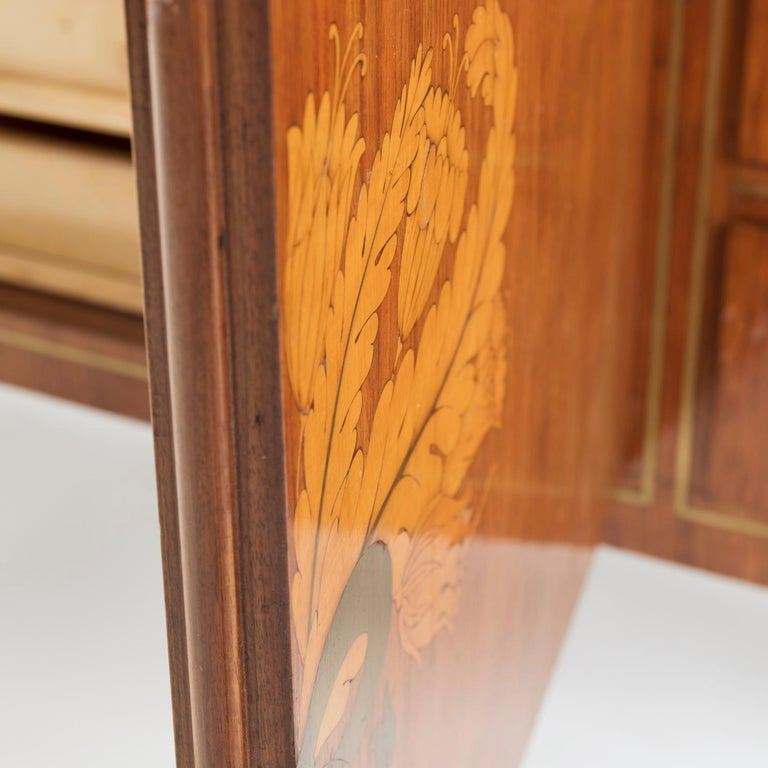 1950 Inlaid Sideboard by Giovanni Gariboldi for Colli, Rosewood Sycomore Brass For Sale 2
