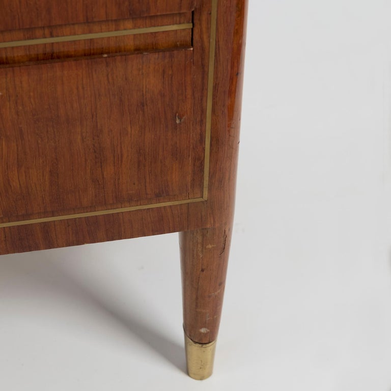 1950 Inlaid Sideboard by Giovanni Gariboldi for Colli, Rosewood Sycomore Brass For Sale 3