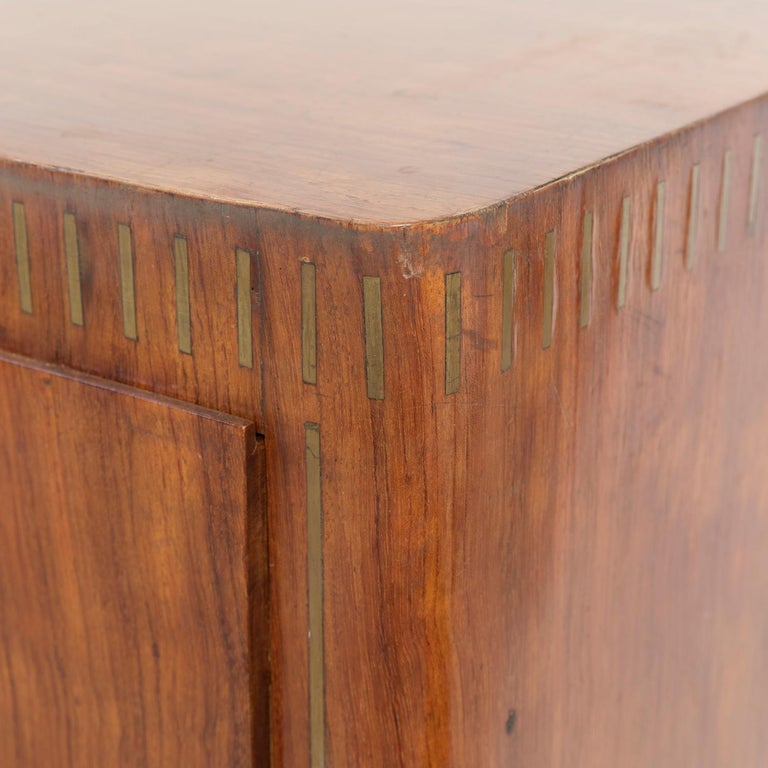 1950 Inlaid Sideboard by Giovanni Gariboldi for Colli, Rosewood Sycomore Brass For Sale 4