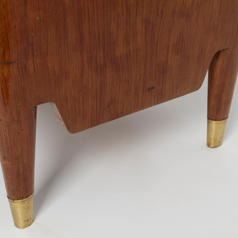 1950 Inlaid Sideboard by Giovanni Gariboldi for Colli, Rosewood Sycomore Brass For Sale 5