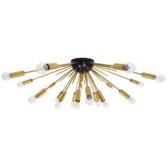 1950 Italian Origina Big Brass Flush Sputnik