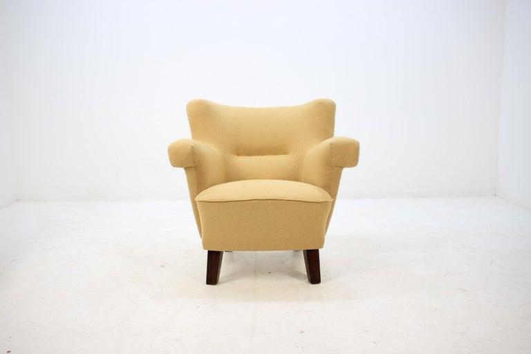 Mid-Century Modern 1950 Large Lounge Chair, Czechoslovakia For Sale