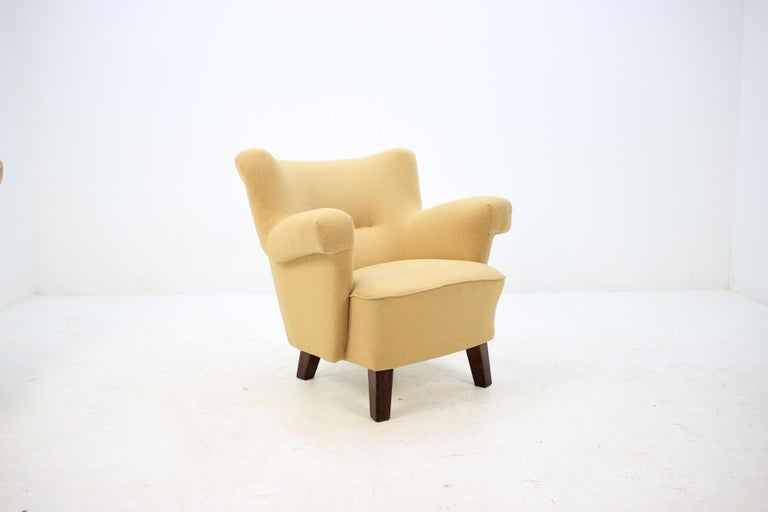1950 Large Lounge Chair, Czechoslovakia In Good Condition For Sale In Barcelona, ES
