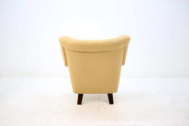 Fabric 1950 Large Lounge Chair, Czechoslovakia For Sale