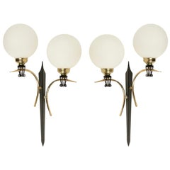 1950 Large Pair of Sconce Maison Stilnovo