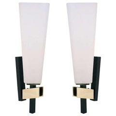 1950 Large Sconces by Maison Lunel