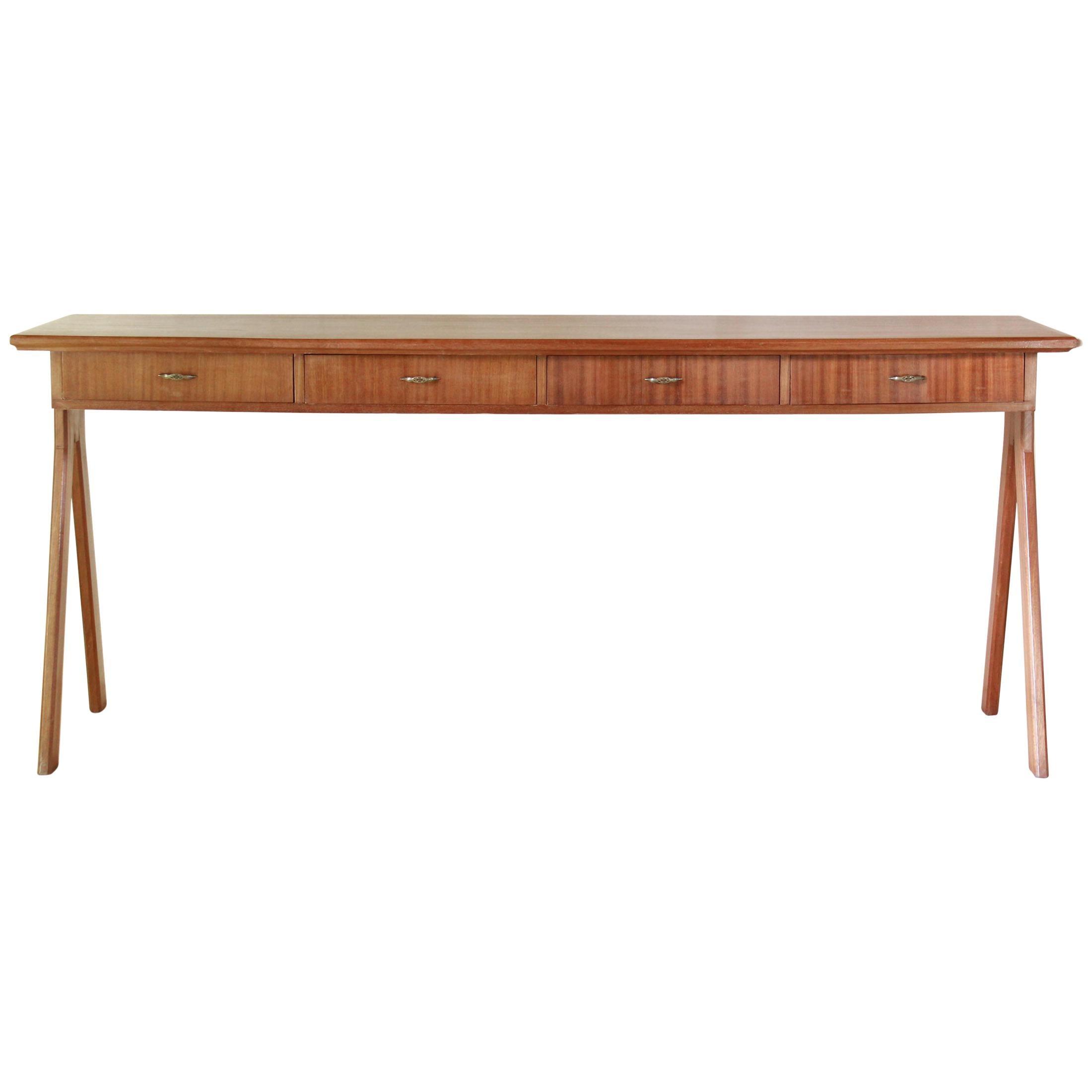 1950 Mahogany Vintage Console Table
