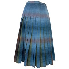 1950 Original Pendleton Wool Shadow Plaid Reversible Pleated Skirt