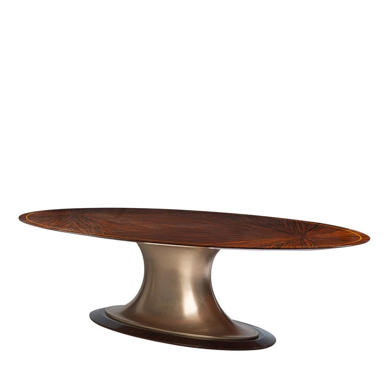 Italian Oval Dining Table For Sale
