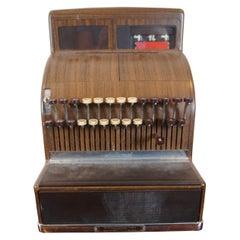 1950 Painted Wood Grain Ncr National Cash Register Machine Retro Midcentury