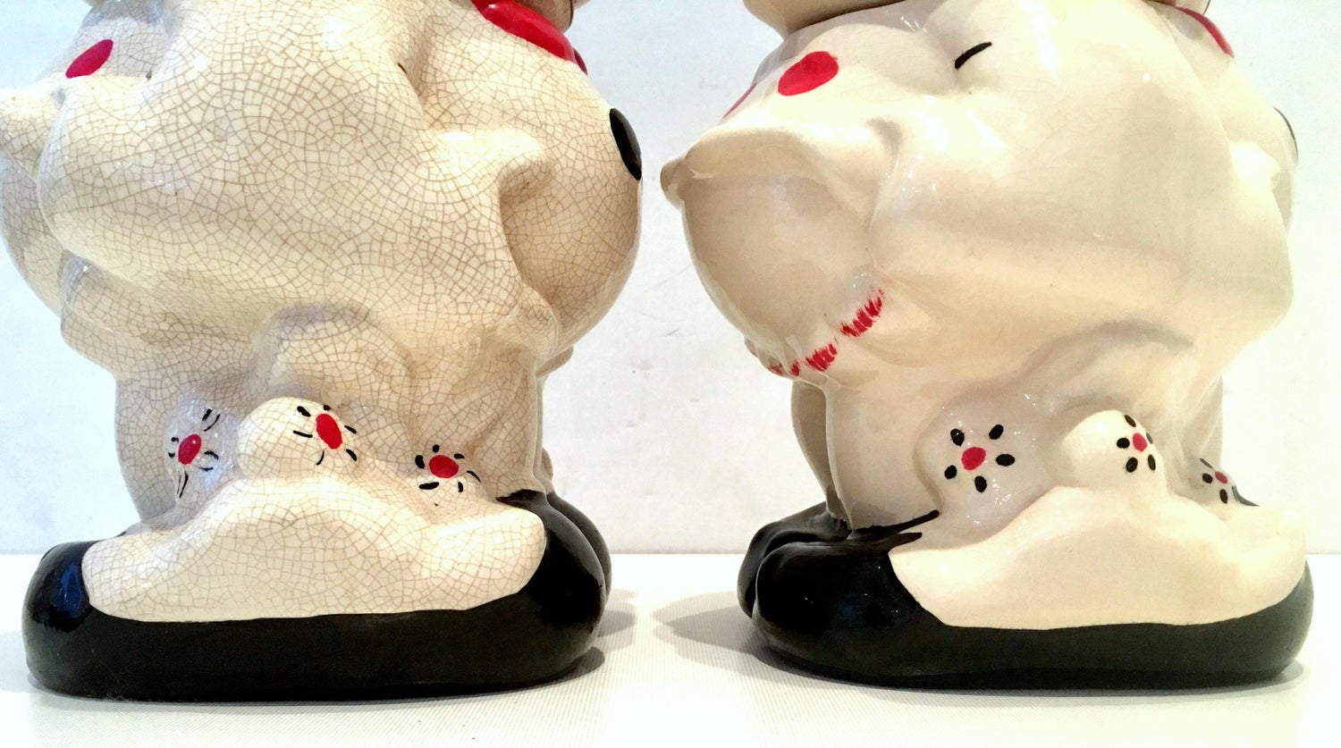 1950 S Pair Of Ceramic Mickey And Minnie Mouse Turnabout Cookie Jars For At 1stdibs