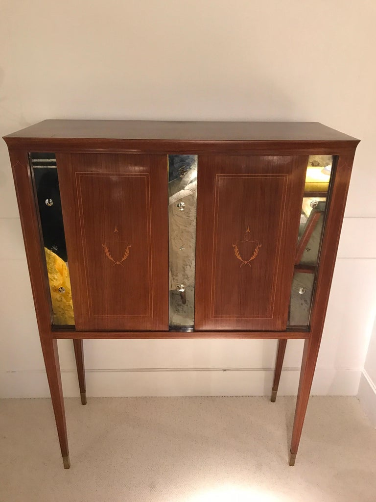 Mid-Century Modern 1950 Paolo Buffa Cabinet Bar For Sale