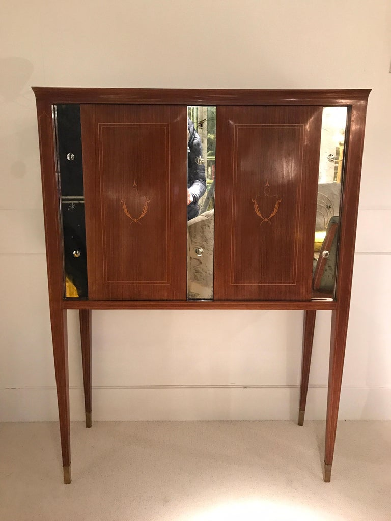Italian 1950 Paolo Buffa Cabinet Bar For Sale