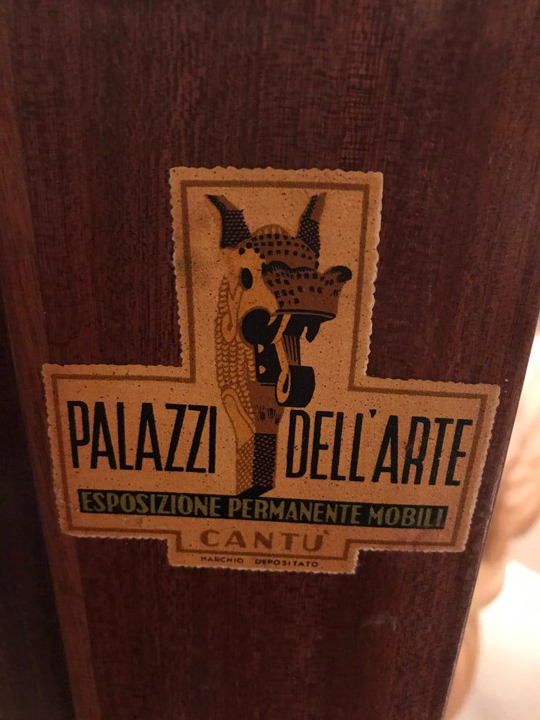 Brass 1950 Paolo Buffa Cabinet Bar For Sale