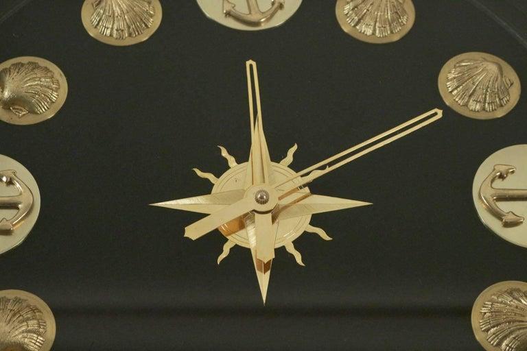 1950 Rare Jacques Adnet Marine Clock Gueridon For Sale 1