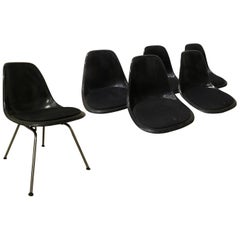 1950, Ray & Charles Eames for Herman Miller, DSS Upholstered Fiber H-Base Chair