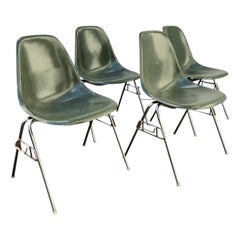 1950, Ray & Charles Eames for Herman Miller Set DSS Fiberglass Stacking Chairs