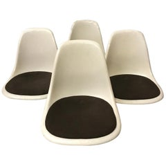 1950 Ray & Charles Eames, Miller, Set Dss Fiberglass Chairs & Original Cushions