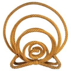 1950 Rope Magazine Rack Audoux Minet