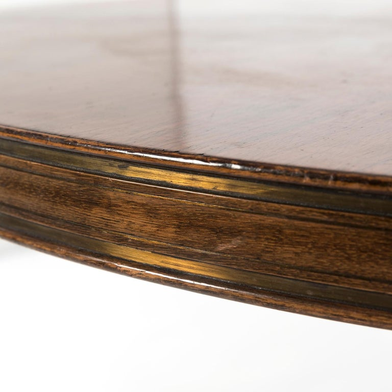 1950 Round Dining Table by Giovanni Gariboldi for Colli in Bubinga Wood For Sale 2