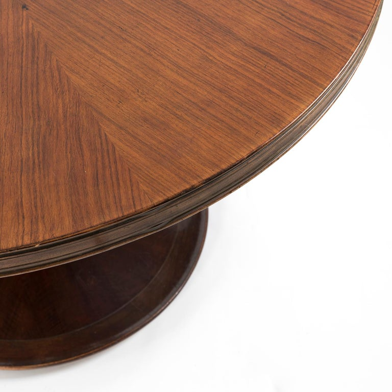 1950 Round Dining Table by Giovanni Gariboldi for Colli in Bubinga Wood For Sale 3