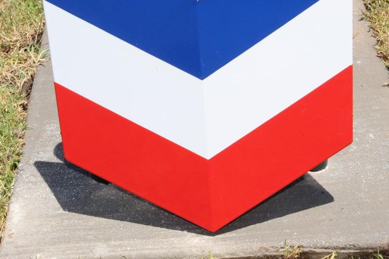 1950s Chevron Porcelain Logo In Good Condition For Sale In Orange, CA