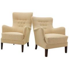 1950 Scandinavian Lounge Chairs, Set of 2