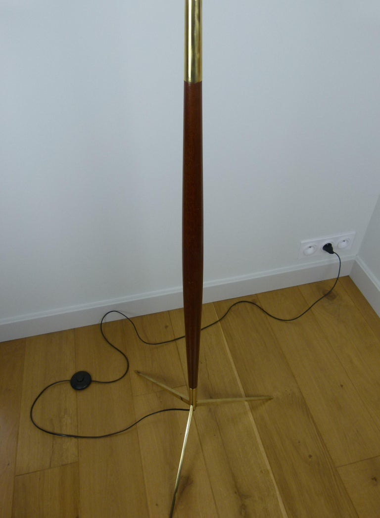 1950 Triple Lighting Floor Lamp by Maison Lunel For Sale 9