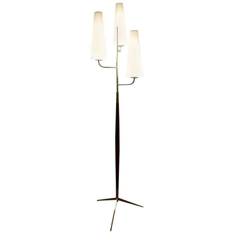 1950 Triple Lighting Floor Lamp by Maison Lunel For Sale