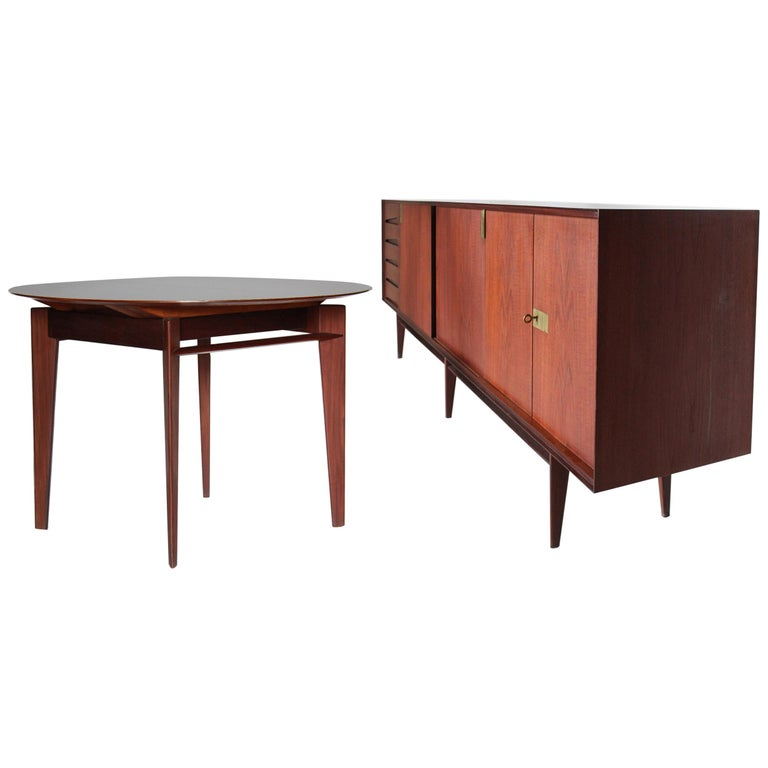 1950 Vittorio Dassi Vintage Dining Room Set Designed by Edmondo Palutari For Sale